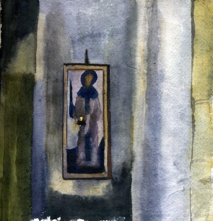 В Храме Никози. Икона Св.Нино